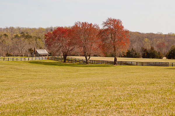 Scenic countryside at Appomattox National History Park