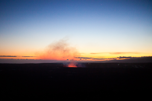 Dusk view from Volcano House