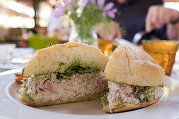 Tuna sandwich at Flora's Field Kitchen