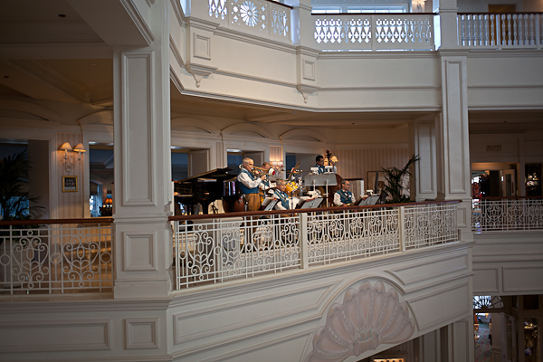 Live Music in the Lobby of the Grand Floridian Resort