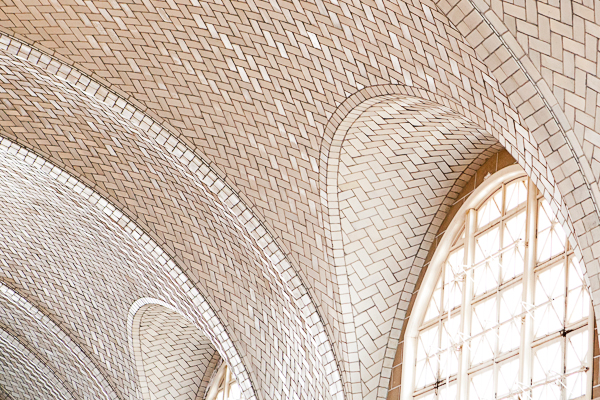 Tiled ceiling of the Registry Room of Ellis Island