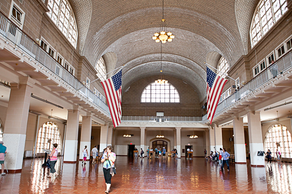 The Registry Room of Ellis Island