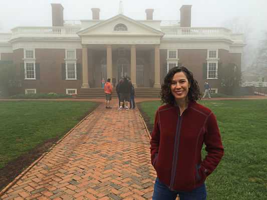 Foggy morning at Monticello in Virginia