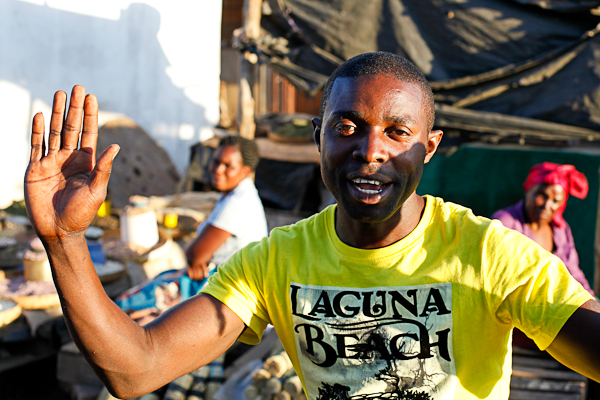 Photo stop at a market in Livingstone, Zambia. People asked to have their photos taken.