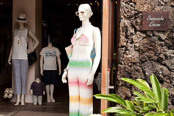 Fashion boutique at the Four Seasons Hualalai