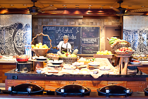 Breakfast buffet at the Four Seasons Hualalai