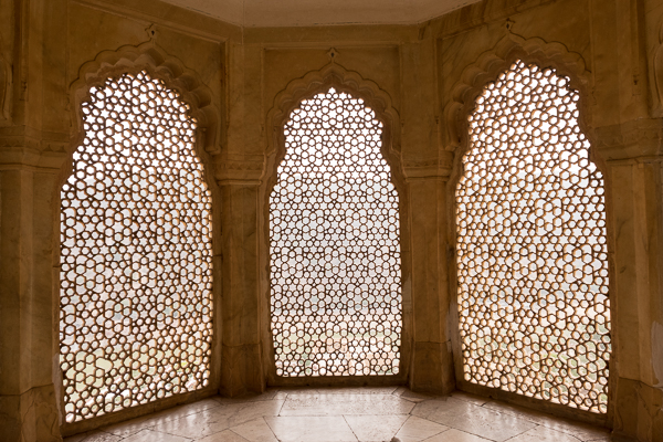 Lattice screens at Amer Palace