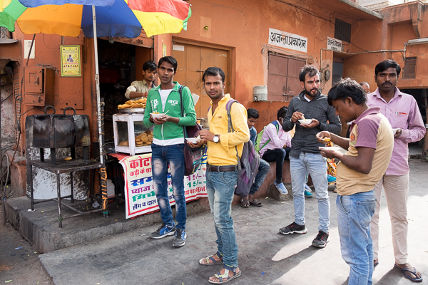 Fast food in Jaipur, India