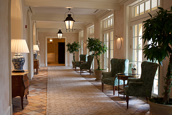 Hallway in Keswick Hall in Virginia