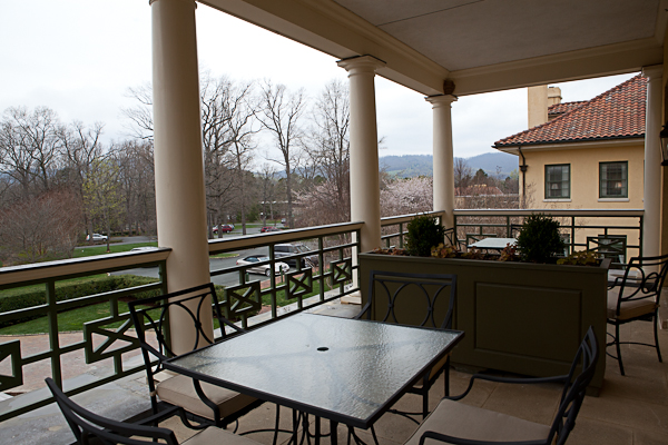 Balcony of room at Keswick Hall
