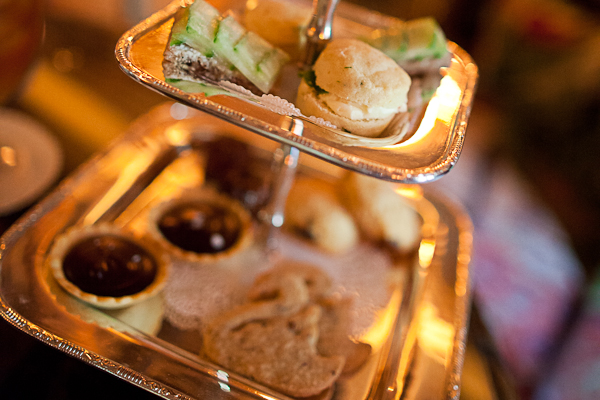 Sweet and savory treats at The Inn at Little Washington during tea time