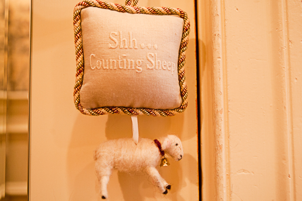 Do-not-disturb sign at The Inn at Little Washington