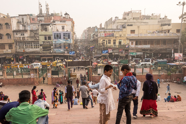 View overlooking Old Delhi from Jama Masjid