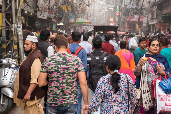 Walking in Old Delhi