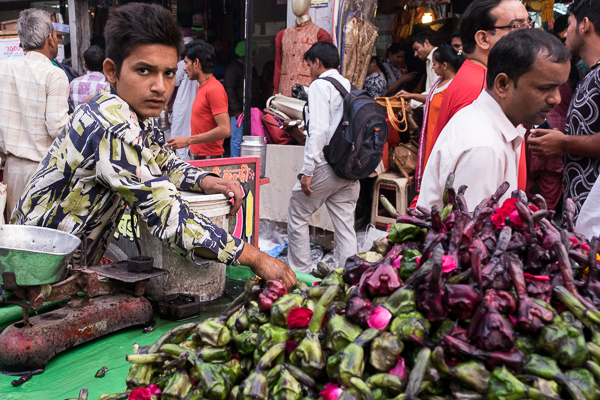 Water chestnuts for sale in Old Delhi