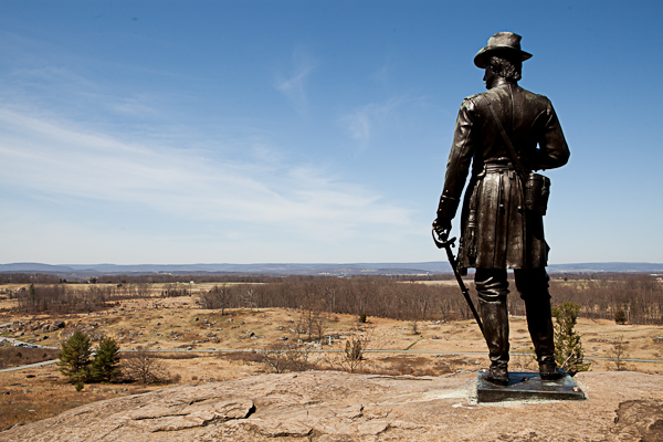 Little Round Top in the Gettysburg battlefield
