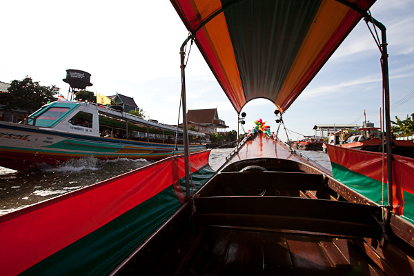 Longtail boat ride in Bangkok