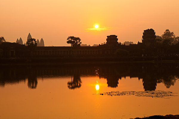 Sunrise and Angkor Wat