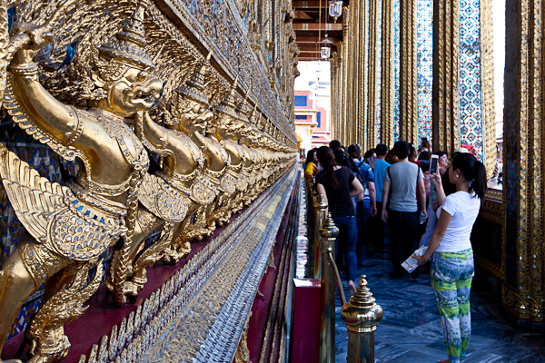 Wat Phra Kaew, home of the Emerald Buddha