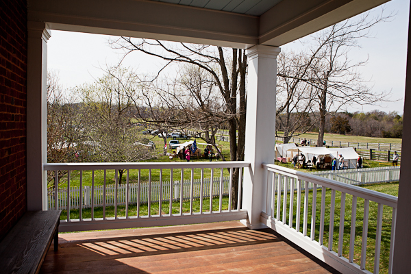 View of Civil War Reenactments from McLean House at Appomattox National History Park