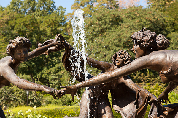 Three Dancing Maidens in Central Park Conservatory Garden