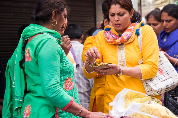 Eating and socializing in Old Delhi
