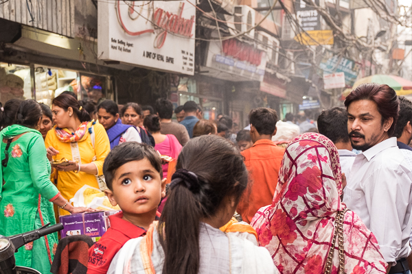 Packed streets of Old Delhi